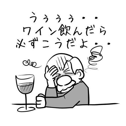 ワインだけ・・悪酔いしちゃう?・・・